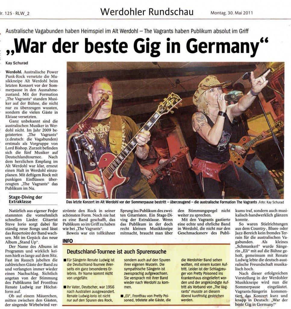 War Der Beste Gig In Germany The Vagrants